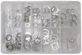 Assorted Aluminium Washers (260)