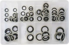 Assorted Box of Bonded Seal Washers (Dowty Washers) Metric