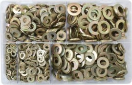 Assorted Flat Washers Metric - BZP (Form A)