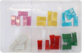 Assorted JCASE Type Fuses (30)