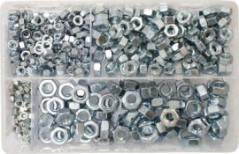 Assorted Steel Nuts M5-M10 BZP (450)