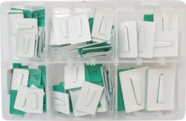 Assorted Adhesive Cable Clips (100)
