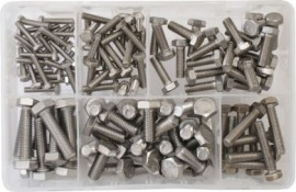 Assorted Stainless Steel Metric Setscrews (120)