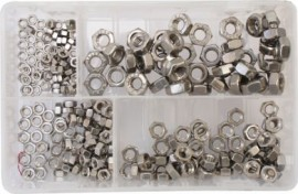 Assorted Stainless Steel Metric Nuts (250)