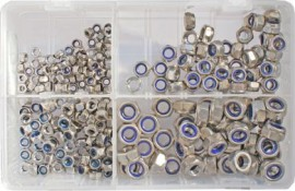 Assorted Stainless Steel Metric Nylocs (250)