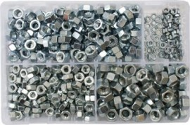 Assorted Steel Nuts 3/16-3/8 UNF (600)