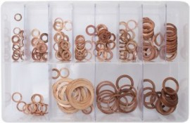 Assorted Copper Sealing Washers (Imp) (225)