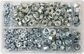 Assorted Flanged Nuts Metric (370)