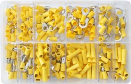Assorted Yellow Electrical Terminals (260)