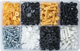 Assorted Number Plate Fasteners (300)