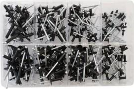 Assorted Black Rivets (200)