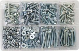 Assorted Box of M6 Hardware - Setscrews, Nuts & Flat Washers (480)