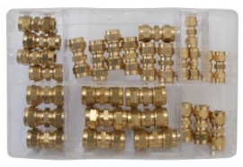 Assorted Brass Tube Couplings (Metric)