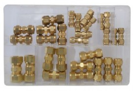 Assorted Brass Tube Couplings (Imperial)