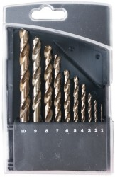 10pc Metric Drill Set (cobalt)