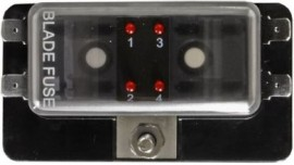 4 position LED warning Blade Fuse Box
