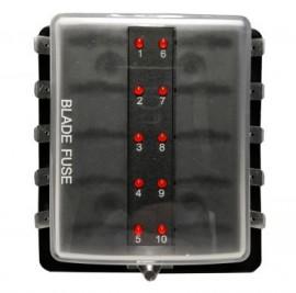 10 position LED warning Blade Fuse Box